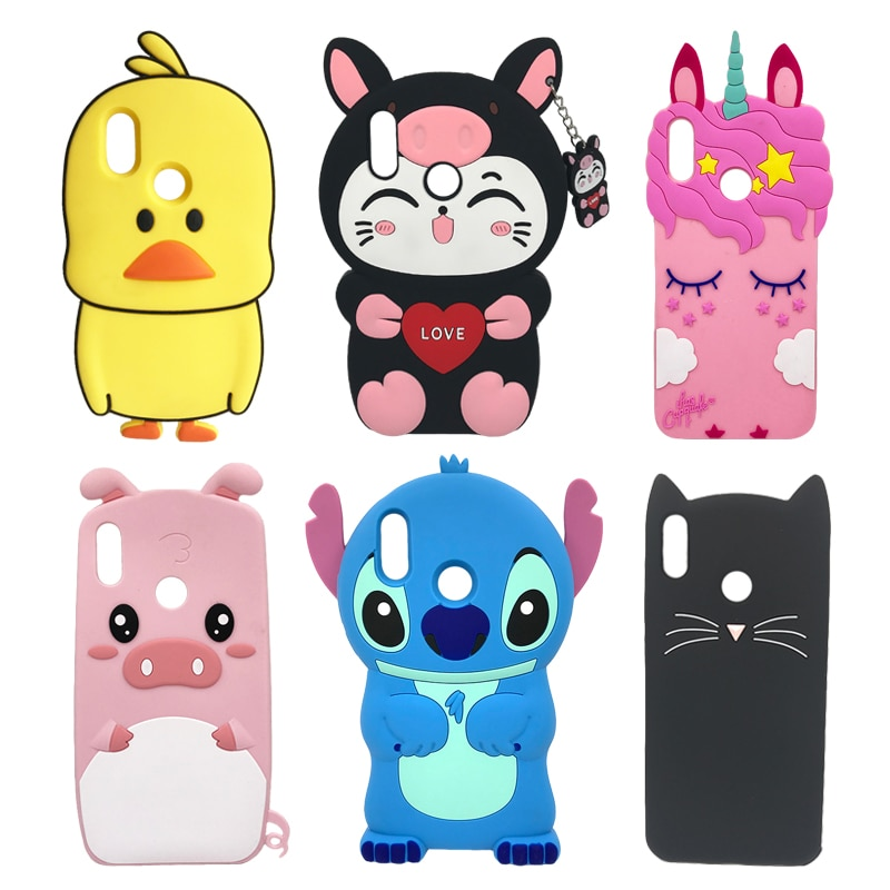 Soft Silicone Phone Case For Huawei P Smart 2019 Case Cute 3D ...